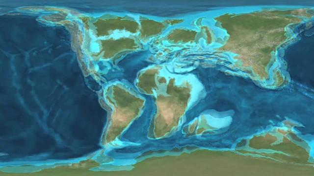 Földtörténet – kőzetlemezek mozgása