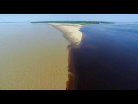 Az Amazonas és a Rio Negro találkozása