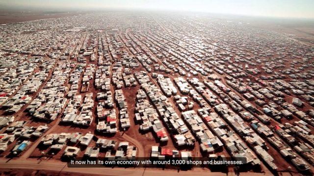 Menekülttábor Jordániában