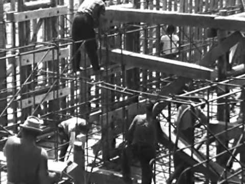 A kiskörei vízlépcső építése