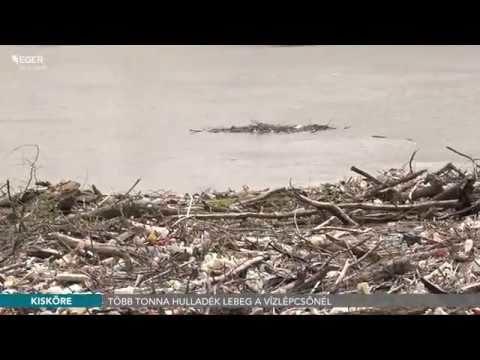 Több tonna szemét lebeg a Kiskörei vízlépcsőnél