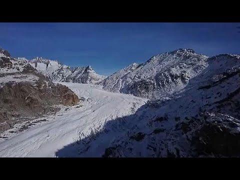 Rekordsebességgel mozog az Aletsch- gleccser