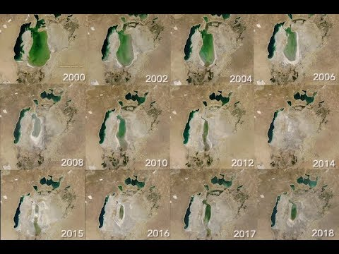 A zsugorodó Aral-tó